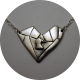 Un bijou en coeur à partir du dessin d'un enfant