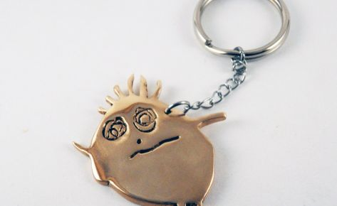 [CUSTOM-MADE] Bronze key ring from your child's drawing