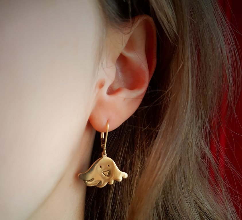 [CUSTOM-MADE] Bronze earrings from your child's drawing