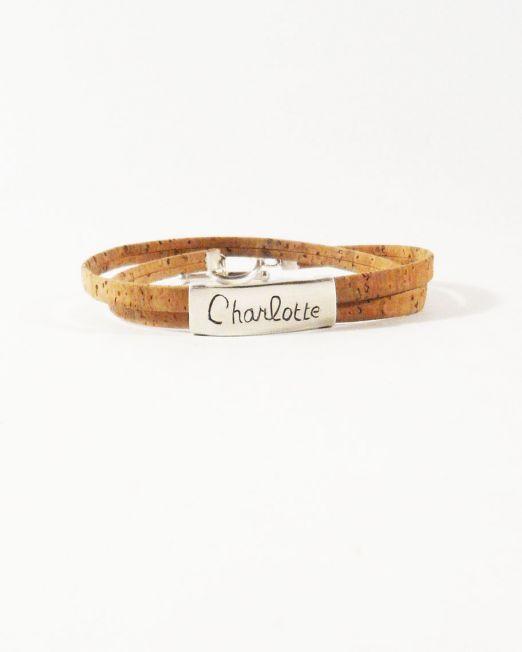 bracelet argent gravé liège-6