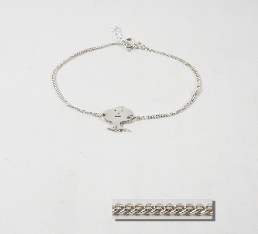 [CUSTOM-MADE] Silver kid bracelet from his drawing