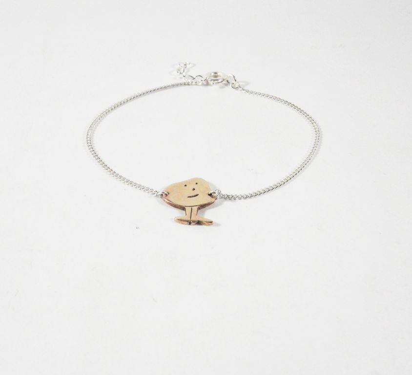 [Custom-made] Bronze child's bracelet from his drawing