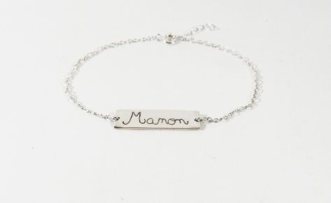 [Custom-made] Silver name engraved bracelet