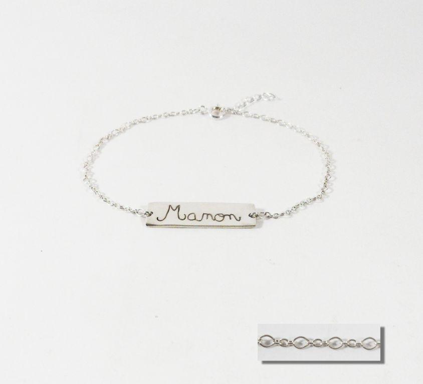 [Custom-made] Name engraved silver bracelet