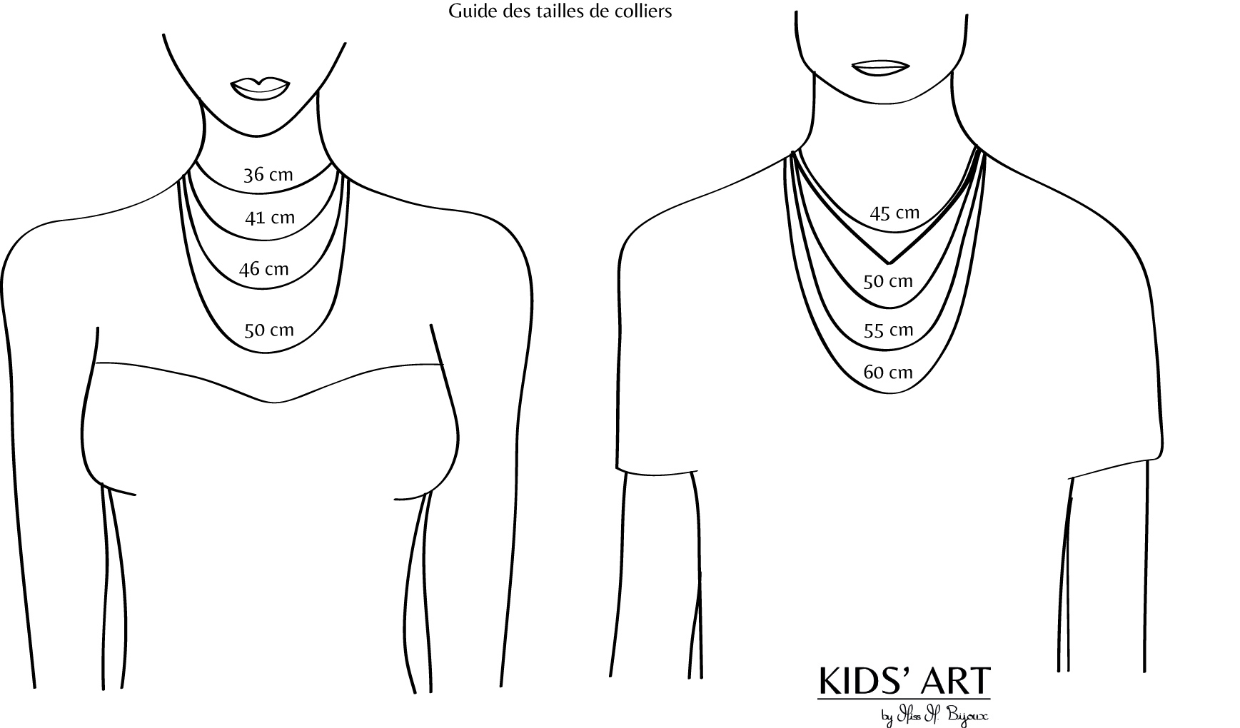 guide taille collier femme