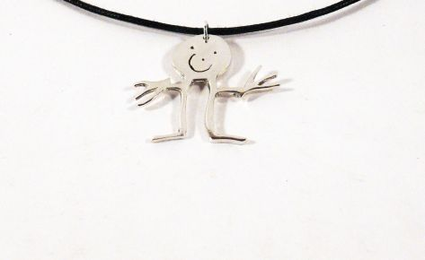 [CUSTOM MADE] Children's silver pendant from their drawing