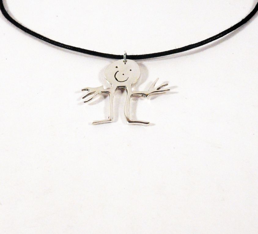 [CUSTOM-MADE] Kid silver pendant from his drawing