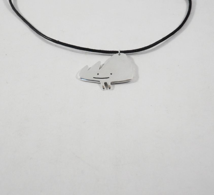 [CUSTOM-MADE] Silver man's pendant from your child's drawing