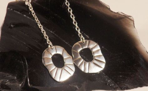 The Sun – Women's silver earrings