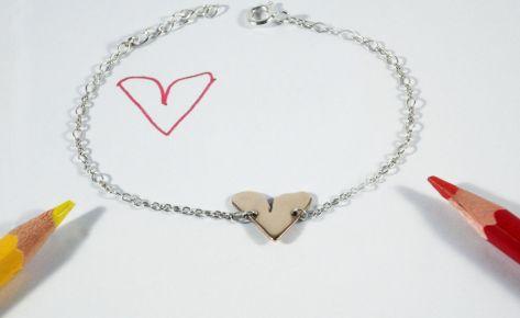 The heart – women's bronze bracelet