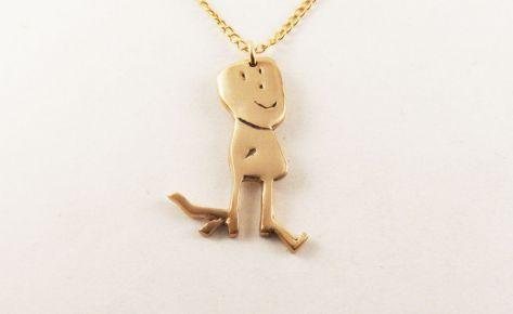 Timothée aux grands pieds – women's bronze necklace
