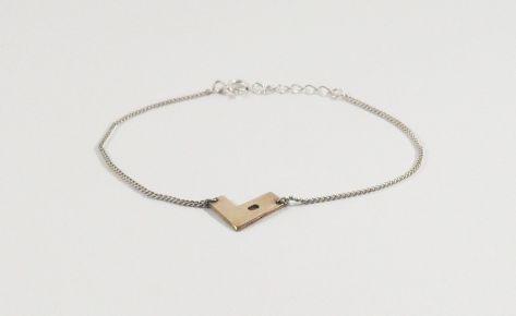 The geometric heart – women bronze bracelet