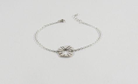 The sun – women silver bracelet