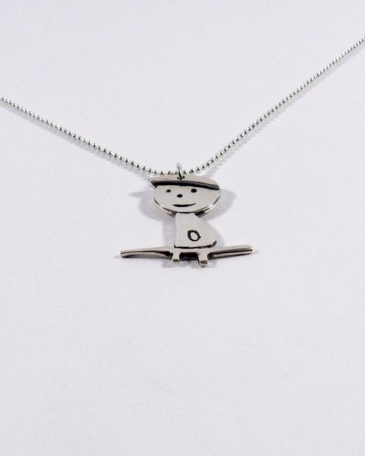 funny silver necklace for kids