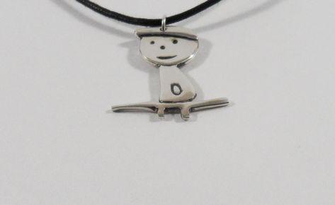 Juliette la pipelette – Women silver necklace