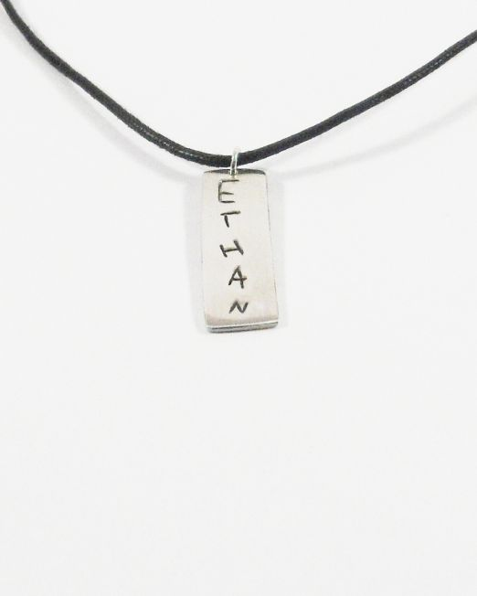 custom made silver men necklace