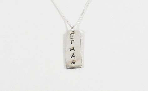 [CUSTOM MADE] Women silver name necklace (long necklace)