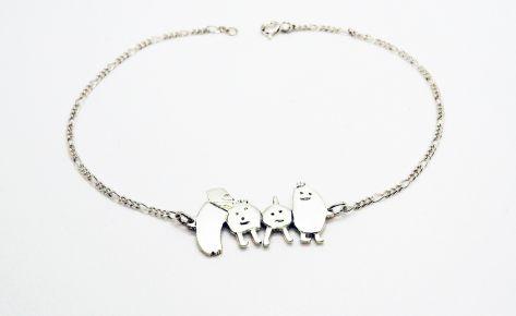 [Sur-mesure] Bracelet homme en argent à partir du dessin de votre enfant