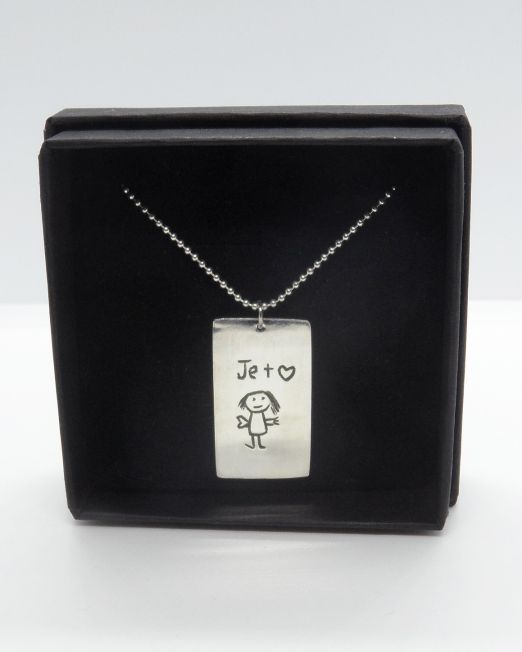 Personalize your child's drawing into a unique jewelry piece