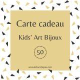 Carte Cadeau Kids' Art